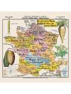"""Carte de géographie n°3 : """"Plantes alimentaires et industrielles"""""""