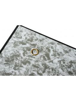 Boîte avec anneaux, fond mousse, 39x26cm