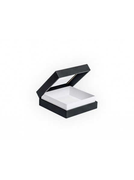 Boîte avec anneaux, fond mousse, 10x10cm