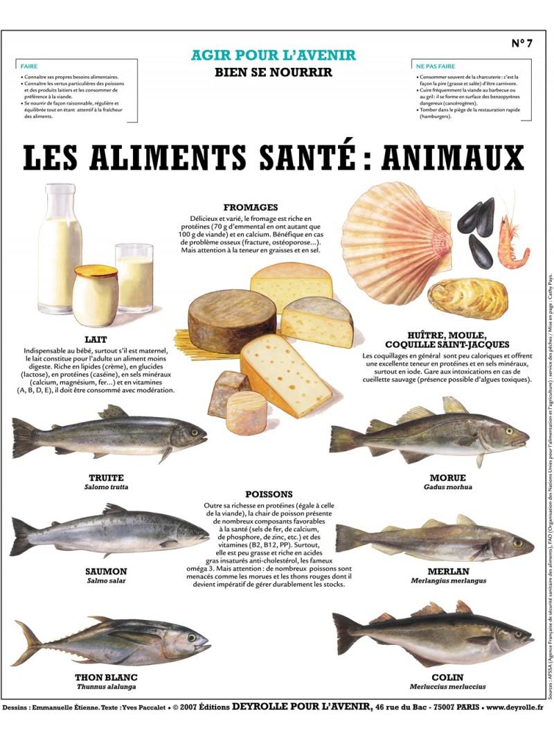 Les Aliments santé :  animaux