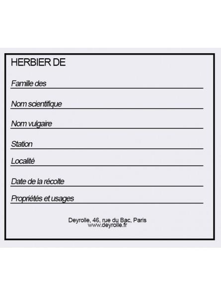 Etiquettes à herbiers